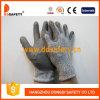 вкладыш волокна 13G Hppe (волокон) полиэтилена высокой эффективности /Glass, Spandex/Nylon PU перчаток Mixedgrey покрытый на ладони/персте. (DCR120)