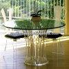 A mobília Home popular ajusta a tabela e a cadeira acrílicas