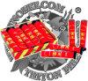 Fuegos artificiales de la torta del rey del trueno (papel rojo) fuegos artificiales