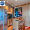 家の台所デザインKitchneのキャビネットPVC高品質の木製の食器棚