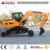 車輪の掘削機および中国の販売のための価格のクローラー掘削機8ton 0.3cbm