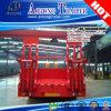 80tons Lowbed Semi Aanhangwagen, de Lage Aanhangwagen van het Bed met de Sloten van de Container