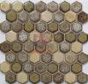 Decorazione di ceramica del mosaico del camino speciale del reticolo del Brown di esagono (CST296)