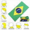 Concevoir l'écharpe multifonctionnelle de couleur chamois encourageante du football