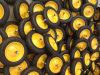 Rubber solido Wheels 350-8, Solid Wheels, con Metal Rims