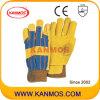 Желтый Свинья Сплит кожа Промышленная безопасность работы зимой перчатки (21302)