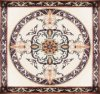 Mosaico de mármol del medallón con el modelo de mosaico de mármol Waterjet de la flor Waterjet