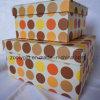 Sistema de la caja de almacenaje del regalo del papel de imprenta de PUNTO