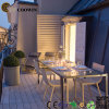 Jardin en plastique en bois du composé WPC/barrière de Decking/plancher extérieurs (150X25mm)