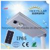 Напольные IP65 делают интегрированный 10W солнечный уличный свет водостотьким СИД