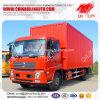 Dongfeng 10 toneladas de Food Storage Van Truck con 6 neumáticos