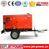 Generatore diesel insonorizzato elettrico del generatore 40kw con le rotelle del rimorchio due