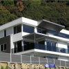Spezieller Entwurf weniger Aluminium-WPC Zaun-Panels des Pflege-Großverkauf-