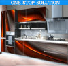 U 자 모양 Modern 3D Effective Kitchen Cabinet
