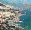 Pittura a olio di HHandmade sulla pittura a olio del andmade della tela di canapa (Seaside1) sui Tela di canapa-Papaveri di Toscano I