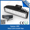 mini LED barra ligera campo a través de 18W para Truck/SUV/ATV