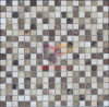 TravertineおよびDark Emperador Mable Mix Crystal Mosaic Tile (CS023)