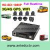 sistemas com a câmera de HD 1080P, GPS do automóvel DVR da canaleta de 3G 4G 4/8, WiFi