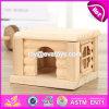 Neue Produkt-Innenhaustier-Aktivitäts-Raum-Mininatur-hölzernes Haustier-Haus-Spielzeug W06f026