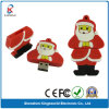 Memória Flash do USB do PVC de Papai Noel do presente do Natal (KW-0205)