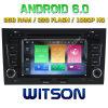 Автомобиль DVD Android 6.0 сердечника Witson 8 для Audi A4