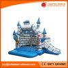 Populäres kommerzielles aufblasbares Plättchen-kombiniertes federnd Schloss für Verkauf (T2-011)