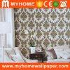 Papel de parede elegante do PVC do projeto 2017 floral para a decoração Home
