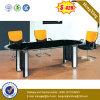 黒いカラー光沢をつけるオフィス表の支配人室の会合表(NS-GD058)