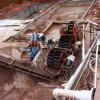 aufbereitendes sand-30t/H waschende und entwässernzeile für Bergbau
