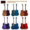 Guitarra acústica elétrica colorida acolchoada venda por atacado da madeira compensada superior
