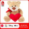 O coração vermelho encheu o fornecedor do urso do luxuoso dos brinquedos do urso da peluche do luxuoso