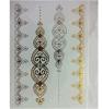 Etiqueta engomada impermeable de destello metálica del tatuaje del arte de las etiquetas engomadas del tatuaje