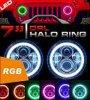 El halo del RGB de 7 pulgadas del control 50W de Bluetooth suena linterna cambiante de los ojos del ángel del color del LED de la linterna 7 del LED la  para el Wrangler del jeep