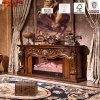 Luxus geschnitzter fester hölzerner elektrischer Kamin-Kaminsims (GSP15-001)