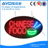 Muestra china de interior oval del alimento LED de Hidly