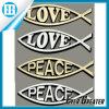 Etiqueta do emblema do carro da forma dos peixes