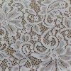 Telas que hacen punto del algodón del cordón del bordado para los accesorios de la ropa