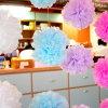 Bolas de la flor del papel de tejido de la decoración de la fiesta de cumpleaños POM Poms