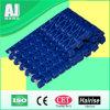 Die blaue einfache Farbe säubern bündiges Rasterfeld-modulares Plastikförderband