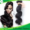 Indische menschliche Wellen-natürliche schwarzes Haar-Extension