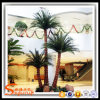 Hotel Decoration Plant Fiberglass Plastic Artificial Palm