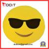 Zachte Stuk speelgoed van de Pluche van het Kussen van Emoticon van Smiley het Gele Ronde Hoofdkussen Gevulde