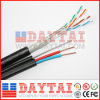 옥외 고양이. Messenger를 가진 5e FTP Power Cable