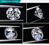 De in het groot Prijs voor altijd Één Witte Synthetische van de Fabriek Diamant Moissanite van het Kussen Oec