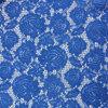 Tessuto di cotone operato Allover del merletto del fiore del blu marino