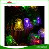 La chaîne de caractères solaire extérieure de 50 DEL allume des décorations de chemin de jardin de Noël de noce d'horizontal de Bells de tintement