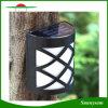 Impermeabilizar el blanco blanco/caliente al aire libre accionado solar de la lámpara del camino de la pared de la azotea de la cubierta del patio de la yarda del jardín de la luz del canal de la cerca de 6 LED