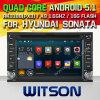 그림에 있는 쿼드 코어 Rockchip 3188 1080P 16g ROM WiFi 3G 인터넷 글꼴 DVR 그림을%s 가진 Hyundai Sonata (W2-F9900y)를 위한 Witson 인조 인간 5.1 차 DVD
