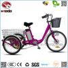 24 triciclos eléctricos de la ciudad de la bici de la rueda del cargo 3 de la pulgada para el adulto con la velocidad de Shimano 6