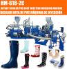 Automático de PVC botas de lluvia que hace la máquina